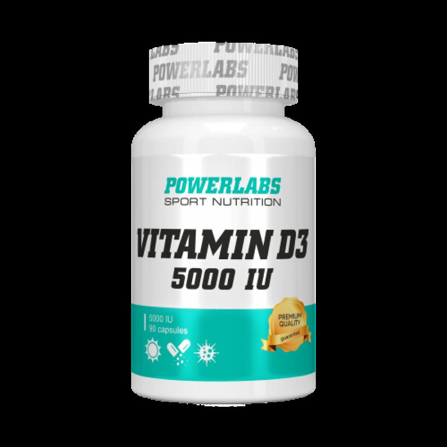 Витамин D3 5000 IU POWERLABS 90 капс.