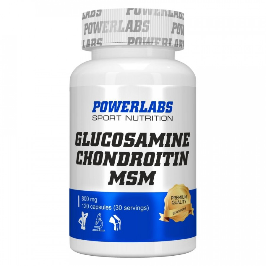 Глюкозамин Хондроитин МСМ POWERLABS 120 капс.