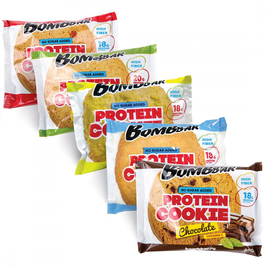 Протеиновое печенье Bombbar 10 штук - 60 г