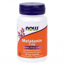 Мелатонин - Melatonin 3 mg NOW 60 капсул