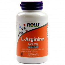 Л-Аргинин NOW L-arginine 500 mg 100 капсул