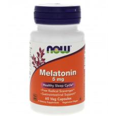 Мелатонин 5 мг NOW Melatonin 60 капсул