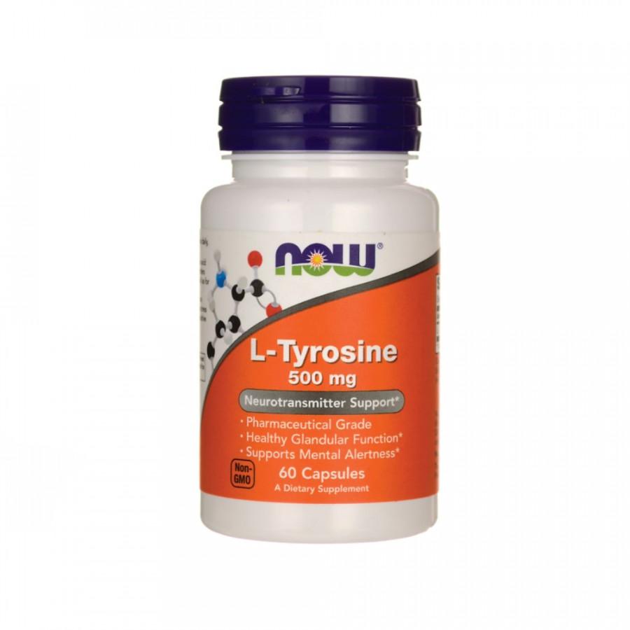 Л-Тирозин NOW L-tyrosine 500 mg 60 капсул