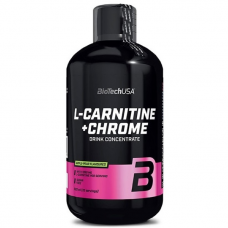Л-Карнитин BioTech L-Carnitine + Chrome Liquid 500 мл.