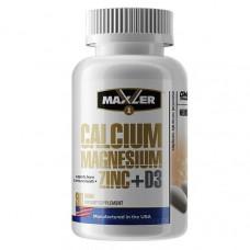 Кальций Магний Цинк Maxler Calcium Magnesium Zinc + D3 90 таб.