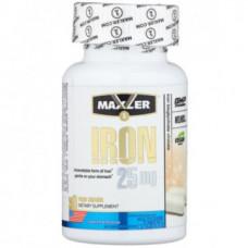Железо Iron 25 mg Maxler 90 капсул