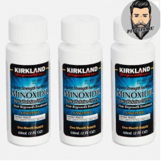 Миноксидил 5% Kirkland- 3 флакона по 60 мл - (на 3 месяца)