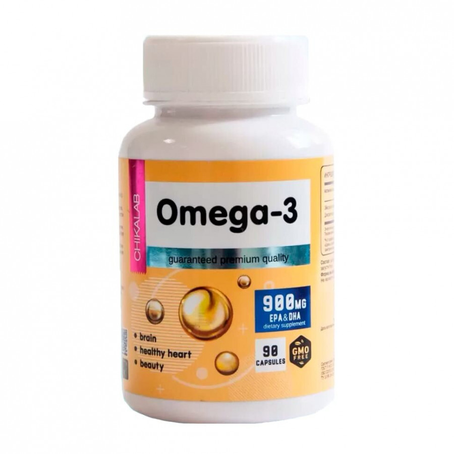 Омега 3 Chikalab Omega-3 Bombbar 90 капсул