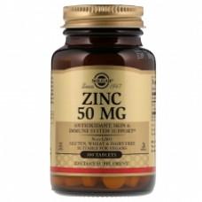 Цинк Солгар - Solgar Zinc Gluconate 50 mg 100 таб.